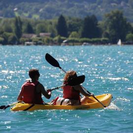 Canoë sur le lac d'Annecy