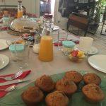 Jus d'orange maison et muffins